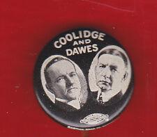 1924 COOLIDGE - DAWES  CAMPAIGN JUGATE CELLULOID CLASSIC