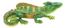 Bejeweled Iguana Trinket Box by Kubla Craft, Accented with Crystals, 4 Long