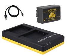 Dual-Ladegerät + Akku für Panasonic DMW-BMB9-E z.B. Lumix DMC-FZ100, DMC-FZ150