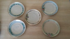 Lot of 5  Saucers Hand Painted by T. Jorgensen  Signed On The Bottom