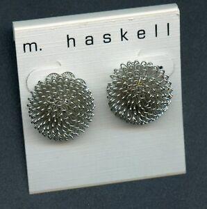 m. haskell Earrings bush shape