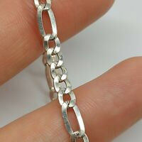 Sterling Silver 925 7 inches bracelet curb style  chain solid jewellery New R97