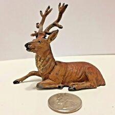 Vintage German Christmas Putz Lead Metal Reindeer Stag Deer
