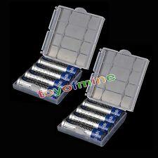 8x 3000mah NiMH AA Rechargeable HR6 Battery + Plastic case H508
