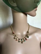 Emerald Greenery Red Gold Necklace EID INDIAN ASAIN ABAYA Jewellery Accessories