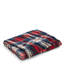 "Ralph Lauren Home Hadwin Plaid Wool Throw Blanket 54"" x 72"" New"