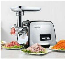 220v Commercial Electric Meat Grinder Stainless Steel Heavy Duty 400w