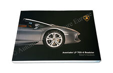 2014 LAMBORGHINI AVENTADOR LP 700-4 ROADSTER OWNER'S MANUAL HANDBOOK ENGLISH