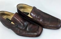 Kenneth Cole New York Mens 10 Brown Leather Loafers Shoes Slip-On 56336 43EU