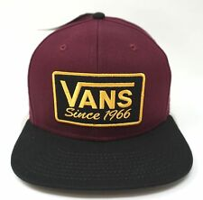 4279b8e04c8 Snapback Baseball Cap Solid VANS Hats for Men for sale
