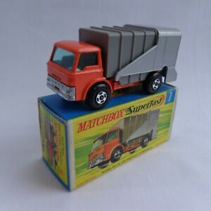 Matchbox Lesney Superfast No7 Ford Refuse Truck RARE WIDE Wheels MINT BOXED!