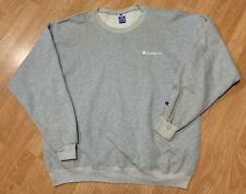 Vintage Mens 90s Gray Champion Apparel Reverse Weave Spellout Sweater Hip-Hop XL