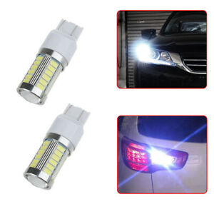 2 x Car 6000K White Back-Up Reverse LED Lights Bulbs Ultra Bright Accessories