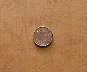 Monnaie Cent Allemagne 2010 Erreur RAR Monnaie / Placage Cuivre Sur I 2 Côtés