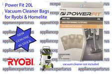Ryobi Expand-it 20L Paper Vacuum Cleaner Bags Pk 3 Part PWF-BAG20L - GENUINE