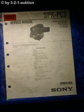 Sony Service Manual SPK PC3 Sports Pack (#4921)