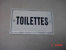 French  Metal  Sign Enamel  Plaque  TOILETTES  Restroom  new