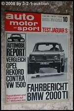 AMS Auto Motor Sport 10/66 BMW 2000 TI Jaguar S 3,8 Liter EMPI Käfer