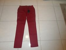 WOMEN'S SIZE 4 BACCINI JEANS PANTS RED BURGUNDY COLOR NEW SKINNY LEG