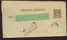 ARGENTINA 1890 STATIONERY WRAPPER DEVUELTO RETURN BOXED
