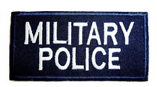 MILITARY POLICE CLOTH BADGE sew on bag jacket patch British Army Applique Navy