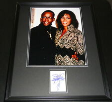 Bobby Brown Signed Framed 16x20 Photo Display w/ Whitney Houston
