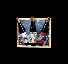 Set of Dollhouse Miniature Iced Beer Wine Bottles Kitchen Drink Fridge Magnet