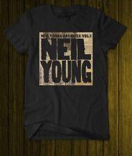 The Legend NEIL YOUNG Archives Vol.1 Canadian singer Black T-shirt S M L Xl 2XL