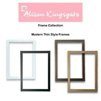 Thin Picture Frames Black Photo Frame White Wood Effect Oak Walnut A2 A3 A4 A5