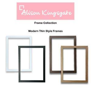Thin Picture Frames Black Photo Frame White Wood Effect Oak Walnut A2 A3 A4 A5