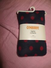 NEW Gymboree Homecoming Kitty Navy Blue Red Polka Dot Tights 3 4 Preppy