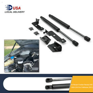 2PCS Hood Bonnet Gas Struts Support For Nissan Frontier D40 Suzuki Equator