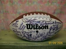 WILSON 3 WHITE PANEL FOOTBALL SIGNED BY 41 HALL OF FAMERS