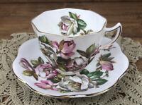 Vintage Rosina Bone China #5062 Cup And Saucer Set Gold Trim, England