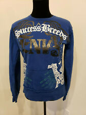 Blac Label Success Breeds Envy LARGE Blue Skull Long Sleeve Shirt  (Lot203)
