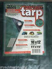 TARP GREEN POLYETHYLENE BOAT STORAGE COVER 136 97051G 10FT X 12FT HEAVY DUTY