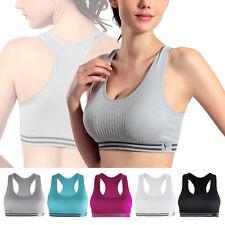 Womens Yoga Sports Running Bra Crop Top Vest Stretch Bras Shapewear Padded