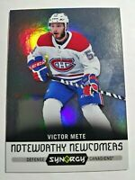 2017-18 Upper Deck Synergy Victor Mete Noteworthy Newcomers #NN-22 Rookie