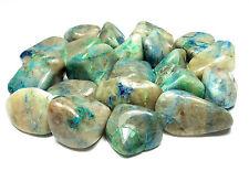 TUMBLED - (2) MED/LG QUANTUM QUATTRO SILICA CHRYSOCOLLA Crystals w/Card- Healing
