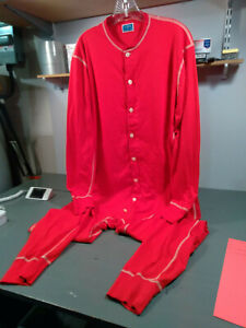J Crew Union Suit Pajamas Long Johns One Piece Jump Suit PJs Mens Large