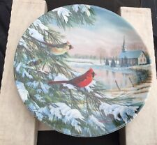 Knowles Plate , Cardinals In Winter America Series Certificate & Brochure