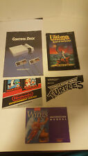 NES Lot of (5) Video Game Instruction Manuals ONLY Mario,Ultima,TMNT +