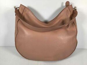 Coccinelle Pink Pebbled Leather Women's Medium Single Handle Hobo Shoulder Bag