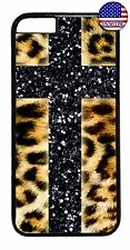Cross Leopard Tiger Animal Print New Back Case Cover For Apple iPhone 7 / 7 plus