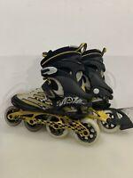 K2 MOTA EXTREME Men's Inline Skates Rollerblades ~  SZ 13 , Black & Gold