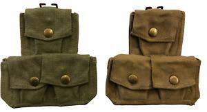 Genuine Issue after 1945 Pattern Italian triple ammo pouch cartridge