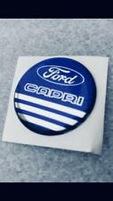 Ford Capri Blue/chrome SELF ADHESIVE STEERING WHEEL/GEARKNOB BADGE