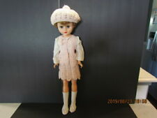 """Pretty Vintage 24"""" 1950s Hard Plastic Doll Strawberry Blonde in Mod Outfit Boots"""