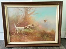 Original Martin Kingman Oil Painting of Hunting Dogs
