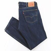 Vintage LEVI'S 505 Blue Denim Regular Straight Jeans Mens W38 L32